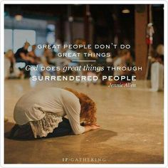 What makes God's will on this earth happen? Totally surrendered people. This is the cost of discipleship, to surrender all to God's will and walk in that will, His understanding - not our own, His view on things - not the politically correct one of the world. Francis Chan - The cost of discipleship https://www.youtube.com/watch?v=qUEHZCxjq-o