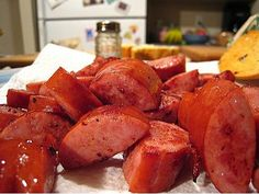 Slow Cooker Candied Kielbasa Sausage - Easy and TASTY! I love this site http://porkrecipe.org/posts/Slow-Cooker-Candied-Kielbasa-Sausage-Easy-and-28368