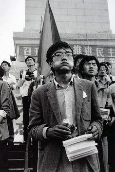 Protesters at Tiananmen Square, Beijing, China, 1989. Photos by KAN TAI WONG 黃勤帶