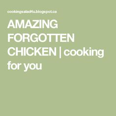 AMAZING FORGOTTEN CHICKEN | cooking for you