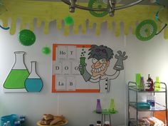 Magalie Sarnataro props Mad Science birthday party decor Mad Science, Birthday Party Decorations, Learning, Home Decor, Decoration Home, Room Decor, Studying, Teaching, Home Interior Design
