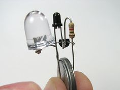 Simple and cheap dark detecting LED circuit from Evil Mad Scientist!
