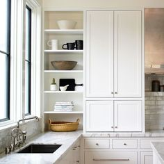Love the tall cabinets