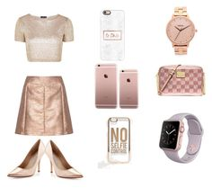 """""""I Need My Self"""" by badwitch-69 ❤ liked on Polyvore featuring Nixon, Topshop, MICHAEL Michael Kors, Glamorous, Charles David, Casetify and ASOS"""