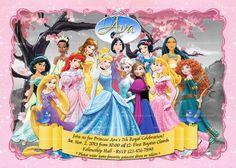 Disney Princesses Invitation. Frozen Invite, Princess Party