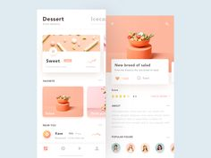 UI design exercises-Dessert – re: chocoline UI design exercises-Dessert Great work from a designer in the Dribbble community; your best resource to discover and connect with designers worldwide. Ui Design Mobile, App Ui Design, User Interface Design, Android App, Web Design Tutorial, Template Web, App Design Inspiration, Recipe Inspiration, Mobile App Ui