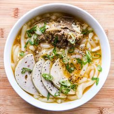 Vietnamese Thick Noodle Soup Recipe (Banh Canh)