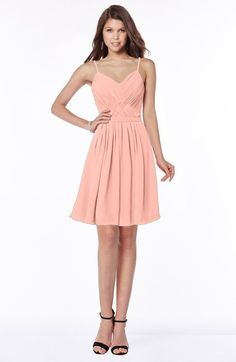 Modest A-line Sleeveless Zip up Knee Length Ruching Bridesmaid Dresses