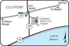 The Holiday Inn Gulfport Airport is located off of 1-10 on Hwy 49.  We are just a short drive from many restaurants, shopping and the sandy beaches in Gulfport, MS
