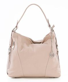 Natural Pebbled Leather Hobo #zulily #zulilyfinds