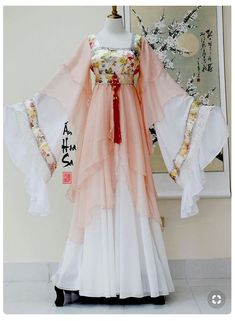 Lady in waiting rich Mode Outfits, Fashion Outfits, Mode Kimono, Fairytale Dress, Fantasy Dress, Chinese Clothing, Japanese Outfits, Kimono Fashion, Traditional Dresses