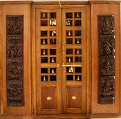 Wood Design Ideas: Latest Pooja Room Door Frame And Door Design Gallery