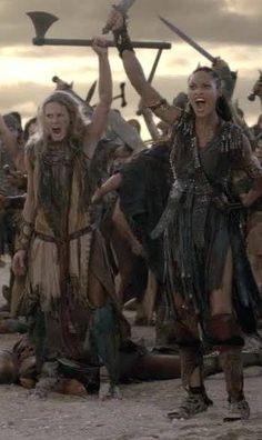 Naevia and Saxa Spartacus Tv Series, Renaissance, Gladiator Fights, The Last Kingdom, I Series, Hero Movie, Poldark, Me Tv, Vampire Diaries The Originals