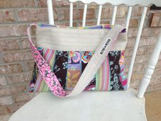 Ecofriendly MERRY Patchwork Purse Quilted Bag by RetroRehabShop, $45.00