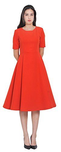 Mary Crafts Womens Classy Celeb Office Business Kate Duchess Dresses 14 Red * Click on the image for additional details.