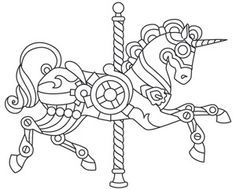 steam punk carousel coloring pages google search