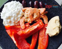 Lunch today :) shrimp salad, garlic homemade hummus, red peppers, cottage cheese and some olives  #lunch #protein #healthy #cleaneating #eatclean #fitnessmeals #fitfam #fitgirls #igfitness #igyoga #yoga #yogaeverydamnday #yogacocktailfitness #summer