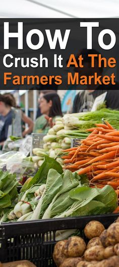 How To Crush It At The Farmers Market. If you've ever sold fruits, veggies, or anything else at farmers markets, you have to see this video by Urban Farmer Curtis Stone. #Farmersmarket #Homesteadsurvivalsite #Urbanfarmer