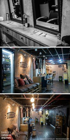 Barbearia Torrent / Projeto de barbearia retrô dentro da academia CrossFit BH / Projeto: Daniel Carvalho / www.danielcarvalhoarq.com