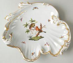 Herend Rothschild Bird shell plate