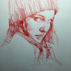 Portrait by Alvin Chong. His drawings have an amazing economy of line. I've seen lots of them and they're all beautifully rendered. Portrait Sketches, Portrait Art, Drawing Sketches, Pencil Drawings, Art Drawings, Sketching, Art And Illustration, Illustrations, Figure Drawing