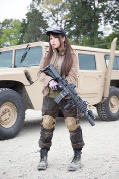 Airsoft Player in Japan. Fashion Photo Woman. #ALPHA INDUSTRIES. #Military #girl…