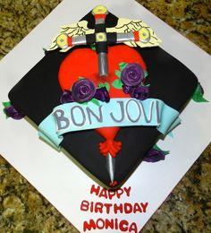 Bon Jovi Birthday Cake