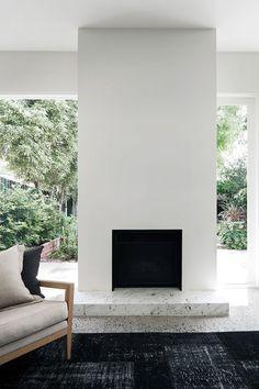 DECOR TREND: Minimalist fireplace | Christine Francis via Yatzer
