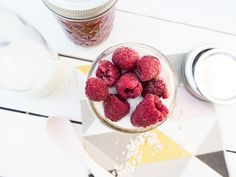 Overnight Oats in Quilted Maison Jars von Blueboxtree.com