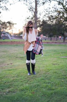 Sherpa Vest - Hello Gorgeous, by Angela Lanter Hunter Outfit, Hunter Boots, Angela Lanter, Monogrammed Scarf, Fall Vest, Monday Dress, Shearling Vest, Perfect Fall Outfit, Fall Outfits