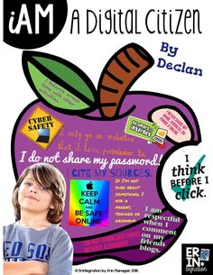 Introduce digital citizenship and iPads at the same time with this digital poster activity using the free iPad app PicCollage.
