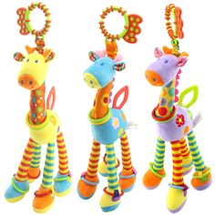 Buy Online Happy Monkey Plush Infant Baby Development Soft Giraffe Animal Handbells Rattles Handle Toys Hot Selling WIth Teether Baby Toy Baby Crib Bedding, Baby Cribs, Newborn Toys, Baby Toys, Baby Development, Baby Rattle, Baby Shop, Toddler Toys, Baby Gifts