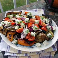 Grilled Veggie Salad with Philly Herb Bites
