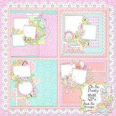Oh So Pretty Digital Scrapbook Kit 12x12 Quick by JssScrapBoutique, $2.99
