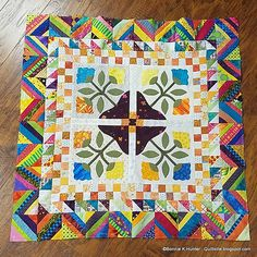This is my new design, Spanish Rose, and I'm teaching it this month on a Mediterranean Cruise with 50 quilting cruisers with me!