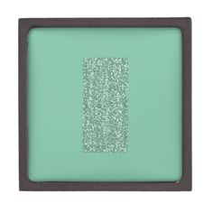 Mint Green with faux glitter Premium Keepsake Box