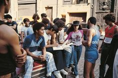 Lady Pink with other graffiti artists, 1980 | Lady Pink:'I don't remember how I was chosen to be in the movie or why. I can only say it was the lack of competition. There were no other females around. I was a young toy, I was in way over my head with these guys, these masters who had already graduated from the subway trains. So I had to get good very fast.' Wild Style The Sampler | Charlie Ahearn