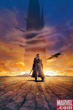 Ilustración de Rolando en busca de La Torre Oscura. La Torre Oscura ~ Stephen King.