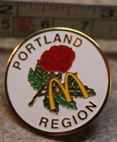 McDonalds Portland Rose Region Oregon USA Collectible Pinback Pin Button #McDonalds