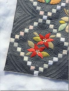 Wool applique. Quilting by Tamarack Shack