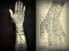 Hand tattoos of a Marquesan woman, 1920 Ethnisches Tattoo, Hand Tattoos, Tahitian Tattoo, Polynesian Art, Polynesian Culture, Polynesian Tattoos, Ethnic Tattoo, Tribal Tattoos, Native Tattoos