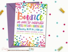 Bounce on over to celebrate Allie's 5th birthday. We'll have a rainbow of fun!