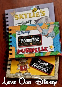 Today we have a special treat. Guest blogger Becca, from Love Our Disney, is sharing step-by-step instructions on how to make your own Character Autograph books! These books are super cute, small enough to fit in your park bag, and will be a wonderful memory-maker! Be sure to let us know if you create one …