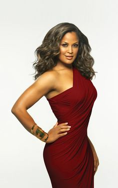 GORGEOUS!  (both the dress and the woman wearing it) Red hot dress -  Laila Ali ♥נк∂...I think it is so cool she boxes..I tried that with my brothers when I was a little Tom boy...gloves and all! Hahah.♥נк∂