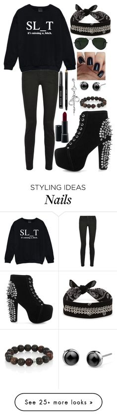 """Arzaylea Fight"" by never-ending-dreamer on Polyvore featuring Bobbi Brown Cosmetics, Ray-Ban, Proenza Schouler, Kale, Fallon, Jeffrey Campbell, MAC Cosmetics, Nest and Bling Jewelry"