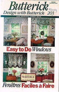 Free printable valance sewing patterns simplicity window for Professional window treatment patterns