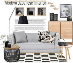 """interior whislist 51: Modern Japanese Interior"" by anna-anica on Polyvore"
