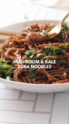 Tasty Vegetarian Recipes, Vegan Lunch Recipes, Vegan Foods, Vegan Dinners, Whole Food Recipes, Cooking Recipes, Healthy Recipes, Veggie Delight, Soba Noodles