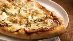 A twist on Pizza: Potato and Mozzarella Naan Pizza