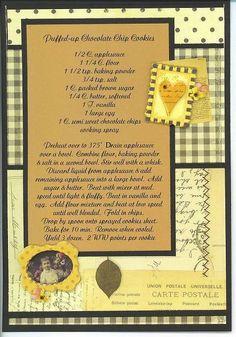 Recipe page layout idea. Old Recipes, Cookbook Recipes, Cookbook Ideas, German Recipes, Friend Recipe, Recipe For Mom, Family Recipe Book, Recipe Books, Family Recipes